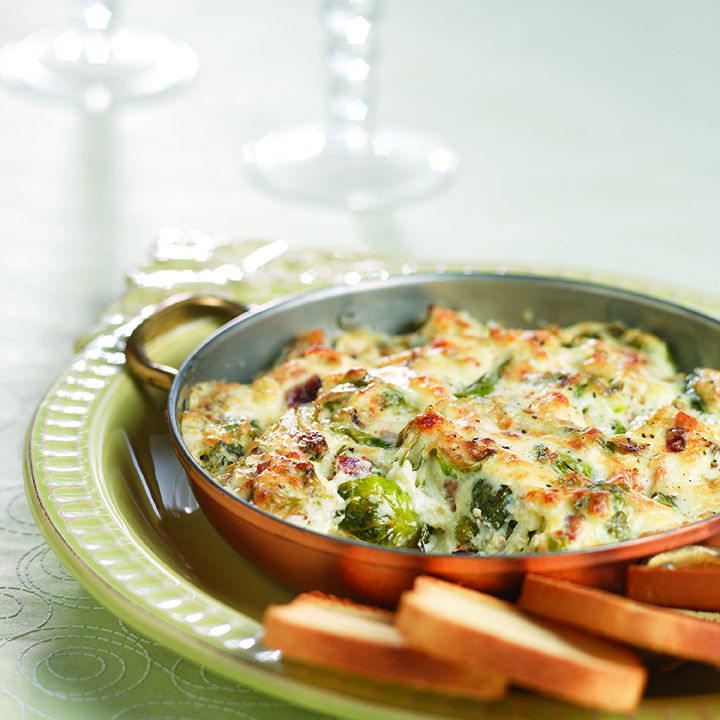 Warm Roasted Brussels Sprouts Dip
