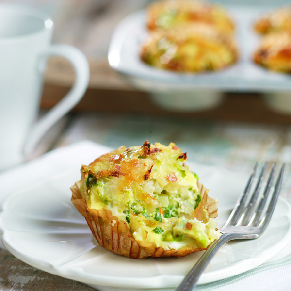 Individual Brussels Sprout Frittata To Go