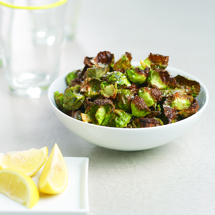 Crispy Roasted Brussels Sprout Leaves