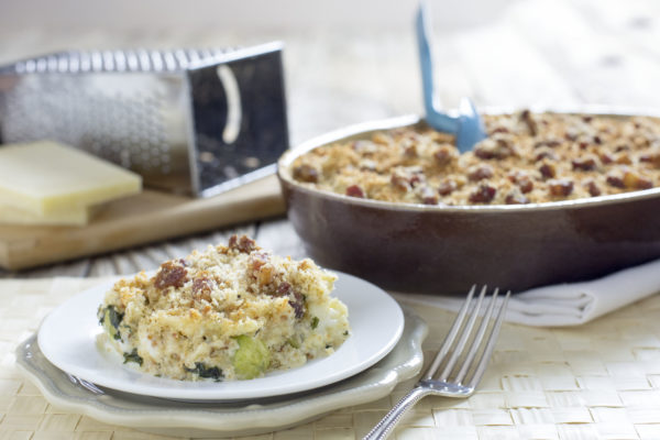 Brussels Sprouts, Cauliflower and Kale Gratin